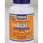 NOW Greens & Superfood Supplements – Acai 500 mg – 100 Vegetarian