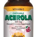 Country Life Immune Support – Acerola + C 500 mg – 180 Wafers