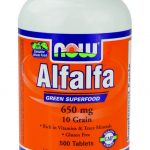 NOW Greens & Superfood Supplements – Alfalfa 650 mg – 500 Tablets