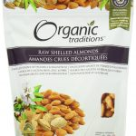 Organic Traditions Snacks – Raw Shelled Almonds – 16 oz (454 Grams)