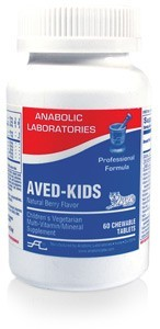 aved-kids-multi-120-yellow-mottled-tigershaped-cewable-tablet-by-anabolic-laboratories