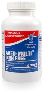 aved-multi-iron-free-60-yellow-speckled-oval-tablet-by-anabolic-laboratories