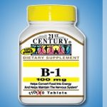 21st Century Nervous System Support – B-1 100 mg – 110 Tablets
