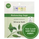 Aura Cacia Bath and Body – Aromatherapy Mineral Bath Balancing Sage