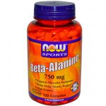 NOW Amino Acids – NOW Sports – Beta-Alanine 750 mg – 120 Capsules