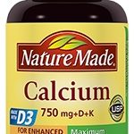 Nature Made Joint Support – Calcium 750 mg with D & K – 100 Tablets