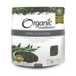 Organic Traditions Greens and Superfoods – Dark Chia Seeds – 8 oz (227