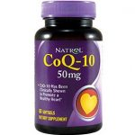 Natrol Cardiovascular Support – CoEnzyme Q-10 50 mg – 60 Softgels