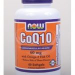 NOW Cardiovascular Support – CoQ10 60 mg with Omega 3 Fish Oils – 60
