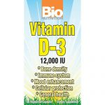 Bio Nutrition General Health – Vitamin D-3 12,000 IU – 50 Vegetarian