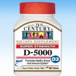 21st Century Immune Support – D3-5000 IU – 360 Tablets