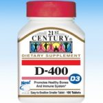 21st Century Immune Support – D-400 IU – 100 Tablets