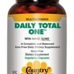 Country Life Multivitamins – Daily Total One Iron Free – 60 Vegetarian