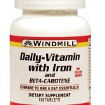 Windmill Multivitamins – Daily-Vitamin with Iron – 100 Tablets