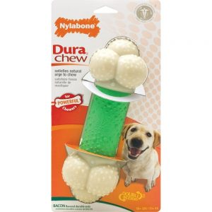 dura-chew-double-action-chew-wolf-dogs-up-to-35-lbs-16-kg-bacon-flavor-1-count-by-nylabone