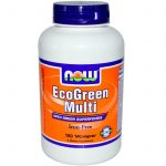 NOW Multivitamins – EcoGreen Multi Iron-Free – 180 Veg Capsules