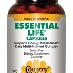 Country Life Multivitamins – Essential Life – 120 Vegan Capsules