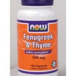 NOW Herbals/Herbal Extracts – Fenugreek & Thyme 500 mg – 100 Capsules