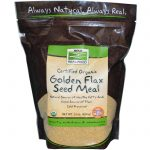 NOW Fiber – NOW Real Food – Organic Golden Flax Seed Meal – 22 oz