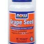 NOW Cellular Support – Grape Seed 60 mg – 90 Vegetarian Capsules