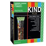 Kind Snacks – KIND Plus Almond Cashew + Omega-3 – Box of 12 Bars