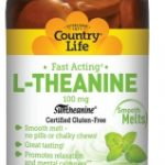 Country Life Nervous System Support – L-Theanine 100 mg – 60 Smooth