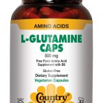 Country Life Immune Support – L-Glutamine Caps 500 with B-6 – 50 Vegan