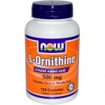 NOW Amino Acids – L-Ornithine 500 mg – 120 Capsules
