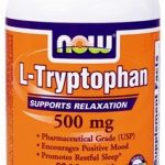NOW Nervous System Support – L-Tryptophan 500 mg – 60 Vegetarian