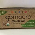 GoMacro Snacks – MacroBar Almond Butter + Carob – Box of 12 Bars (2 oz