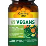 Country Life Multivitamins – MAX for Vegans – 120 Vegan Capsules