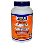NOW Gastrointestinal/Digestive – Papaya Enzymes (Chewable) – 360