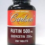 Carlson Labs Cardiovascular Support – Rutin 500 mg – 250 Tablets