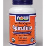 NOW Greens & Superfood Supplements – Spirulina (Certified Organic) 500
