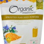 Organic Traditions Fiber – Sprouted Flax Seed Powder – 16 oz (454