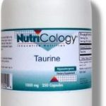 NutriCology Cellular Support – Taurine 1000 mg – 250 Vegetarian