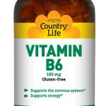 Country Life Nervous System Support – Vitamin B6 100 mg – 100 Tablets