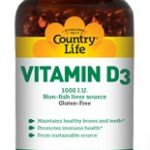 Country Life Immune Support – Vitamin D3 1000 IU – 100 Softgels