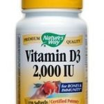 Nature's Way Cellular Support – Vitamin D3 2000 IU – 120 Softgels
