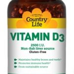 Country Life Immune Support – Vitamin D3 2500 IU – 200 Softgels