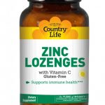 Country Life Immune Support – Zinc Lozenges 23 mg with Vitamin C – 120